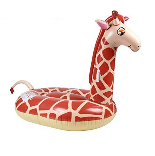 MSFX Giraffe Aufblasbar Schwimmring Sommer Draussen Schwimmende Reihe Schwimmendes Bett Tragbar Kids Adults Pool Schwimmen Poolspiele Strandmatte Wasserspielzeug