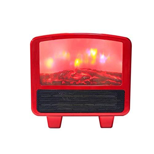 Hogreat Calentador eléctrico Calentador de Chimenea de Llama 3D Calentador de Ventilador Velocidad Calentadores eléctricos de Oficina Peque?a conectables en Caliente