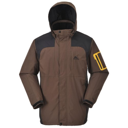 Cox Swain Titanium Herren 2-Lagen Outdoor Funktionsjacke Colorado Titanium 8.000mm Wassersäule, Colour: Brown, Size: S