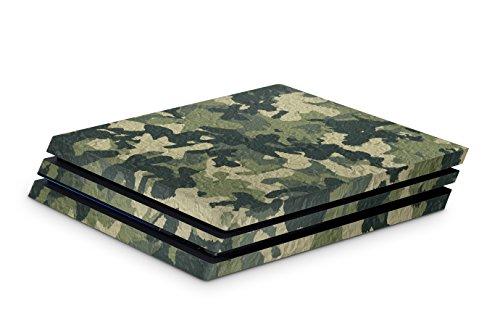 Skins4u Aufkleber Design Schutzfolie Vinyl Skin kompatibel mit Sony PS4 Playstation 4 Pro camo wood crumble