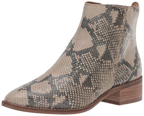Lucky Brand Women's LENREE Ankle Boot, Chinchilla, 8 M US