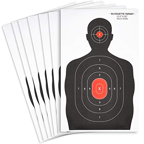 Juvale Paper Shooting Targets, Silhouette (50 Sheets) 14 x 22 Inches