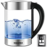 DEKOPRO Electric Kettle with Temperature Control, 1.7L Electric Tea Kettle Hot Water Boiler with LED Indicator Light Auto Shut-Off, Boil-Dry Protection & Keep Warm