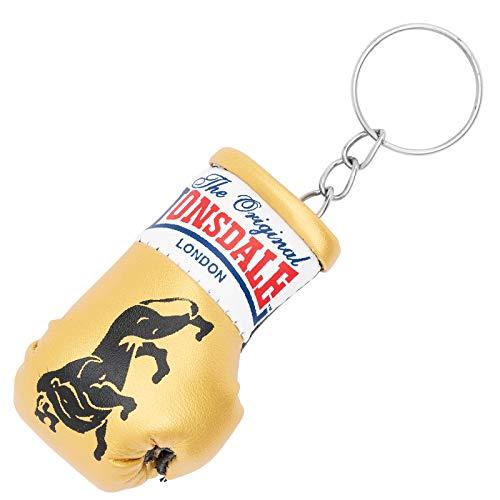 Lonsdale Mini Boxhandschuh Schlüsselanhänger, Gold/schwarz