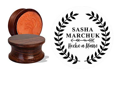 IMPACT2PRINT Sello de goma montado en acrílico y madera personalizado Sello personalizado Sellos personalizados DIY Idea de regalo