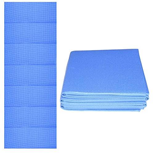 Nuryme Esterilla de yoga plegable, gruesa y suave, para practicar yoga, pilates y entrenamiento, 173 x 61 x 0,4 cm