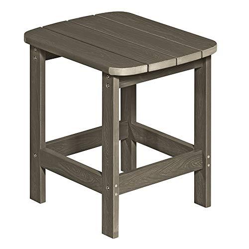 NEG Design Adirondack Tisch Marcy (braungrau) Westport-Table/Beistelltisch aus Polywood-Kunststoff (Holzoptik, wetterfest, UV- und farbbeständig)