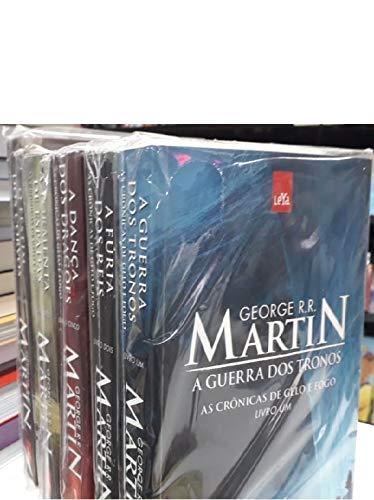 CRÔNICAS DE GELO E FOGO GAME OF TRHONES 5 VOLUMES