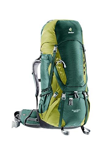Deuter AirContact 65 + 10 - Trekking Backpack, Forest / Moss