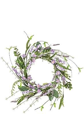 "Sullivans Artificial Lavender Candle Ring Wreath, 12"""