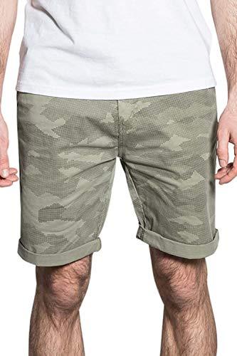 Deeluxe Short à imprimé Camouflage BATUAN Khaki 30 pour Homme