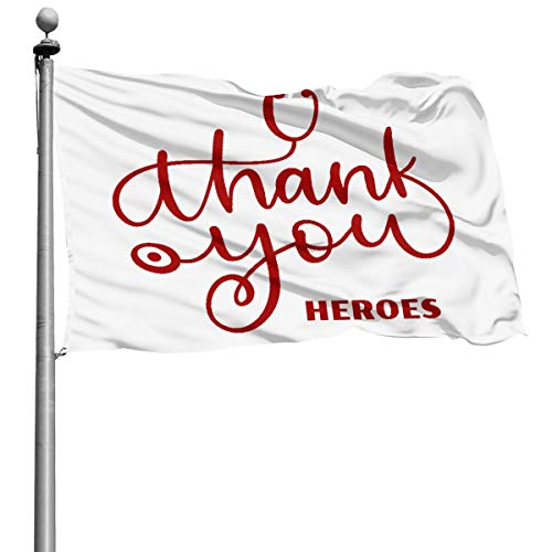 Thank You to All The Workers On The Front Lines Coronavirus Yard Home Garden Fillet Flag Outdoor Square 4x6 Ft