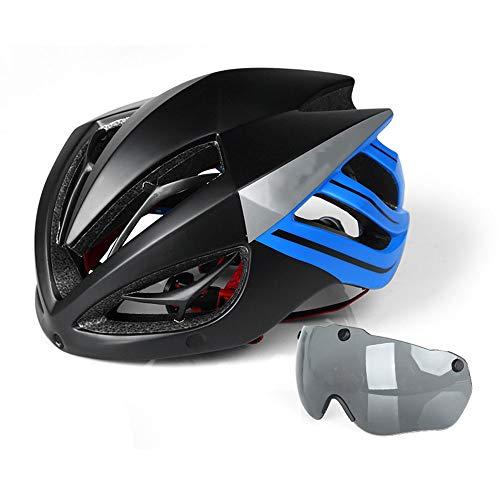 Fietshelm Met Afneembare Magnetische Bril Vizier BMX Mountainbike Racefiets Mountainbike Helm Volwassen Mannen En Vrouwen Verstelbare Kiel Fietshelm Buitensporten