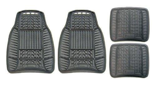 MICHELIN 98016 Allwetter-Fußmatten aus Gummi, Schwarz, 4er-Set