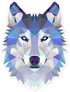 Wolf Modern Art Design Vinyl Sticker - Car Window Bumper Laptop - SELECT SIZE