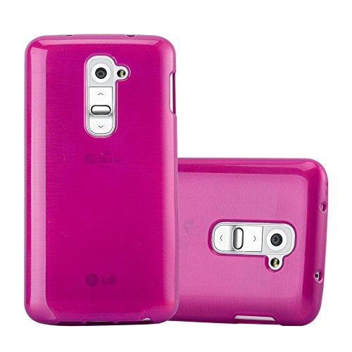 Cadorabo Hülle für LG G2 Mini in PINK - Handyhülle aus flexiblem TPU Silikon - Silikonhülle Schutzhülle Ultra Slim Soft Back Cover Hülle Bumper