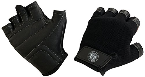 Muscle Composition Pro Grip Leather Gym Gloves by for Weight Training and Crossfit (Black/X-Large)