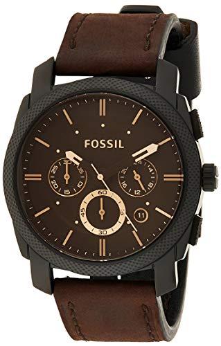 Fossil Reloj Cronógrafo para Hombre de Cuarzo con Correa en Cuero FS4656IE
