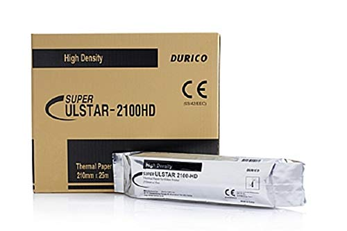Durico Thermal Paper for Video Printer ULSTAR-2100HD (5 Rolls per Box) Sony UPP-210HD Equivalent - 210mm x 25m (Made in Korea)