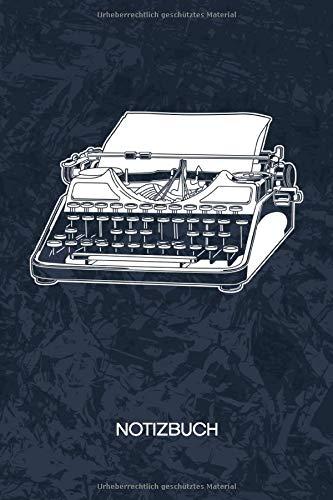 NOTIZBUCH: A5 Kariert - Nostalgiker Heft - Retro Notizheft 120 Seiten KARO - Retro Gadget Notizblock Schreibmaschine Motiv - 90er Kind Geschenk