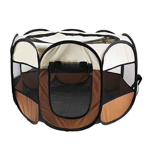 YINETTECH 72 x 72 x 45 cm/90 x 90 x 60 cm perro cachorro gato mascota corral valla de tela plegable portátil para ejercicios de casa interior y exterior