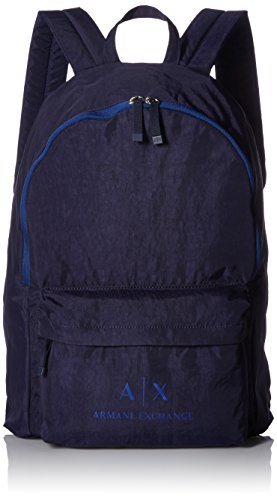 Armani Exchange - Backpacks, Mochilas Hombre, Azul (Dark Sea), 5.5x26.0x20.5 cm (B x H T)