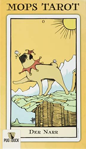 Original MOPS TAROT: Kartenspiel Set mit Mopsmotiven und Handbuch: Kartenspiel mit Mopsmotiven