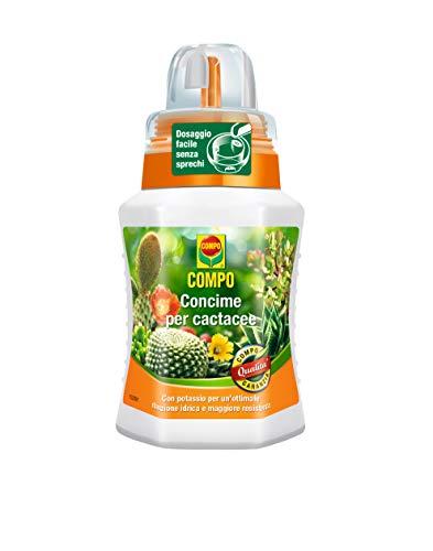 Compo, Concime per Cactus e Piante grasse, Fertilizzante Liquido ad Alto tenore di Potassio, 250 ml, 6.3x7x15.5 cm