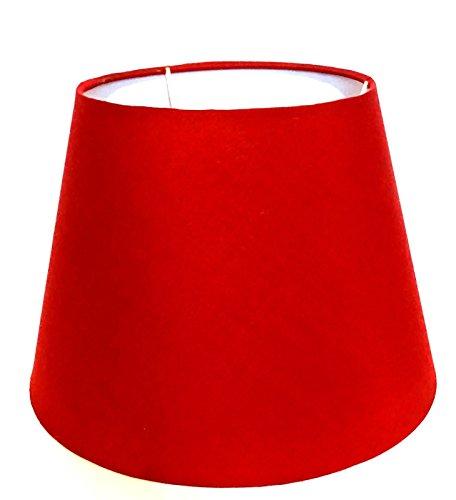 Lampenschirm / Tischleuchte / Stehlampe / 25 cm (Unten) x 16,5 cm (Top) x 18 cm (Höhe) / Bordeaux / Rot / Stoff / oval / rund / E14 / Groß
