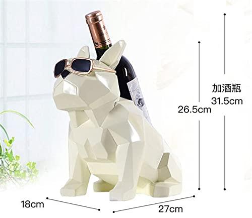 Simplicidad Moderna Bulldog francés botellero para Vino Decoraciones para el hogarSoporte para Decoraciones para el hogar Muebles creativos para el hogar Regalo para Fiestas - B