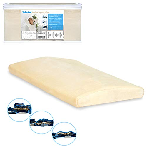 Lumbar Pillow for Sleeping - Adjustable Height -...
