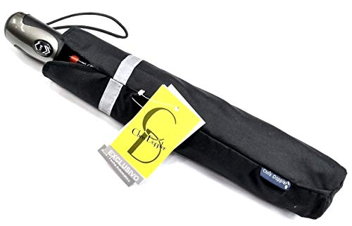 Top Guarda Chuva Automático Abre fecha Aluminio Portaria Safe Lock C168 Chris Doppler Preto