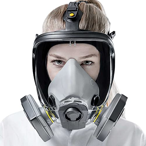 SolidWork filtrierende Vollmaske Größe S/M/L für eine perfekte Passform | Atemschutzmaske mit niedrigstem Atemwiderstand und perfektem Sichtfeld | Profi Gasmaske zum Schutz gegen Dämpfe & Partikel