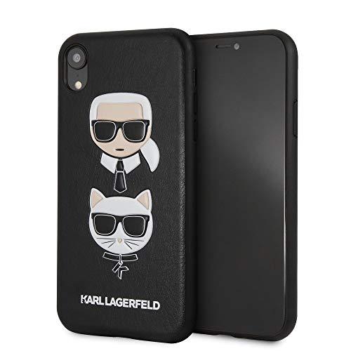 Karl Lagerfeld KLHCI61KICKC Karl and Choupette Hard Case Black for iPhone XR