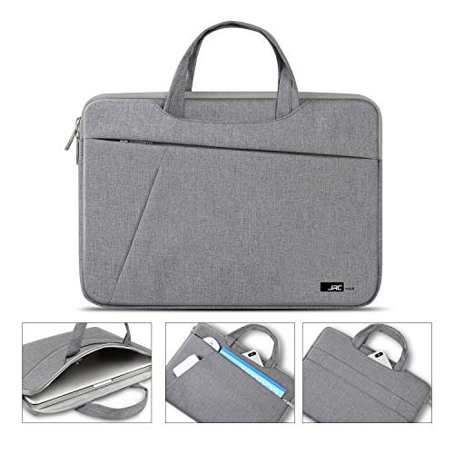 JRCMAX 14 Inch Laptop Sleeve Compatible for MacBook Pro 15'', Microsoft Surface Laptop 3 15'', 14' Hp/Acer Chromebook/Asus/Dell/Thinkpad/MSI, Multifunctional Briefcase - Gray