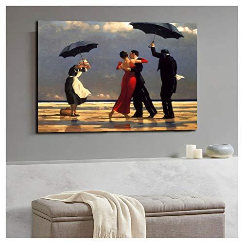 nr Jack Vettriano Porträt Ölgemälde gedruckt Leinwand Poster und Druck Wandbilder Artwork Home Decor Cuadros für das Leben 60x80cm Rahmenlos