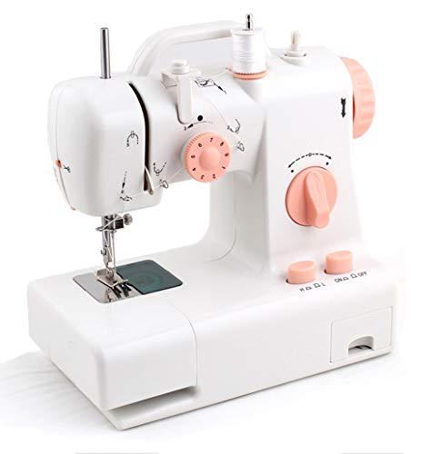 Mini máquina de coser eléctrica, bobinado automático, interruptor de costura inversa, diseño antideslizante, un regalo para principiantes