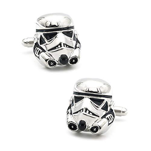 jiao Herren Darth Vader Manschettenknöpfe Messing Material Silber Farbe Dunkle Manschettenknöpfe