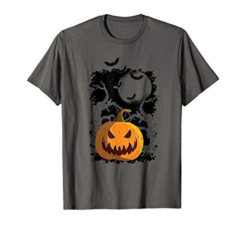 Cooles Vintage Kürbis und Fledermaus Halloween Party T-Shirt