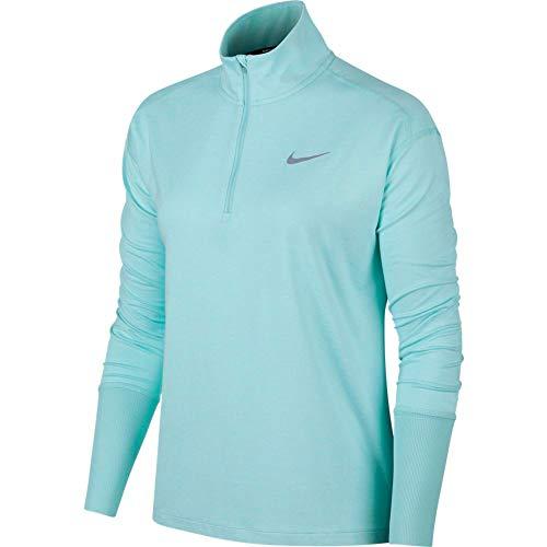 Nike Women's Element 1/2-Zip Running Top Tropical Twist/Teal Tint/Reflective SILV XS