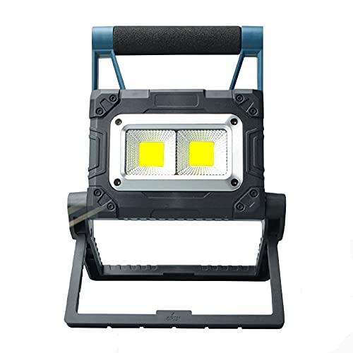 QIANG Foco LED Recargable, 30W Luz Portatil Bateria con 3 Modos De Luces para Acampar Al Aire Libre con USB A Prueba De Agua para Garaje, Pesca, Senderismo,B