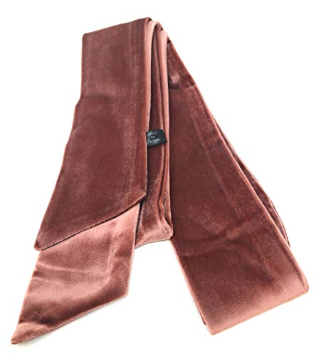 Vintage Velvet Velour Polyester Long Skinny Scarf Belt Headwrap Necktie Choker Accessory (Pink)