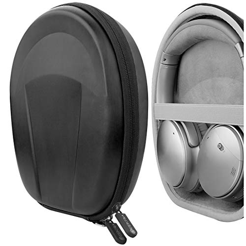 Geekria UltraShelll Case Compatible with Sony MDR-10RNC, MDR-10RC, MDR-10R, MDR-XB950N1, MDR-XB950BT Headphones, Replacement Protective Hard Shell Travel Carrying Bag with Cable Storage (Black)