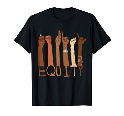 Equity Diversity Inclusive Asl Hands Shirt For Equality T-Shirt