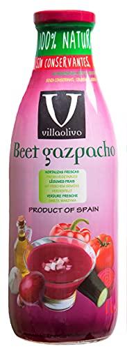 Villaolivo - Gazpacho de Remolacha Sin Conservantes Sin Gluten - Botella 1L