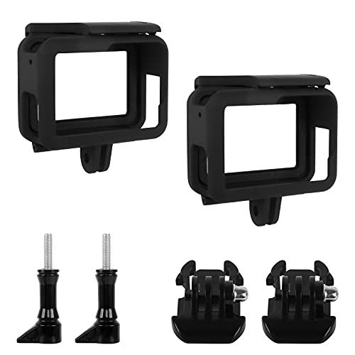 LiangDian GoPro Gehäuse Rahmen 2 Stück Schwarze Schutzgehäuse für GoPro Seitlich Offener GoPro Rahmenhülle Action Camera Schutzhülle Kompatibel mit GoPro Hero 7/6/5/2018 Black