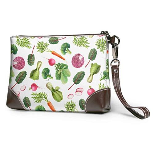 Pochette in pelle Morbida custodia a portafoglio impermeabile da polso Custodia da giardino Carote...