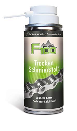 Dr. Wack - F100 Trocken Schmierstoff-Spray 100 ml I Fahrrad Kettenöl trocken für weniger Reibung & Verschleiß I Trockenschmierstoff für alle Fahrräder I Hochwertige Fahrradpflege – Made in Germany