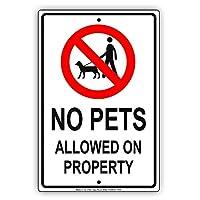 警告サイン犬の土地の犬の場所猫の道路標識ビジネスサイン