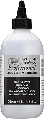 Winsor & Newton 3040937 Farbflussverbesserer für Acrylfarben, erhöht die Fließfähigkeit von Farben - 250ml Flasche